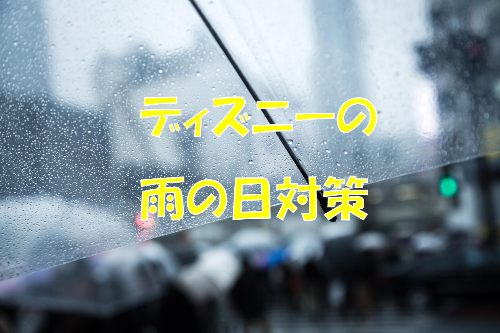 ディズニーの雨の日